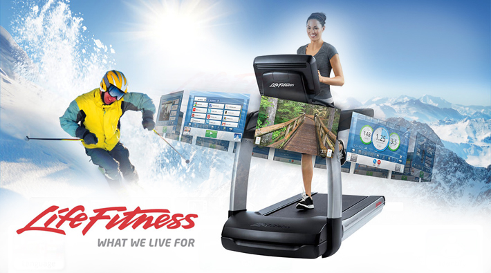 New Discover console from Life Fitness.